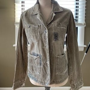 Silver Jeans Distressed Jacket size L
